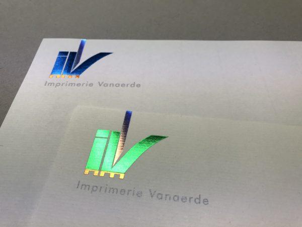 Dorure logo Imprimerie Vanaerde